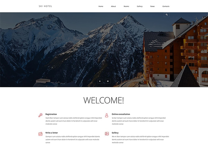 Hotels and Motels Joomla Template