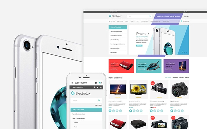 Electronics Store Responsive OpenCart Template