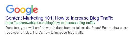 How to Increase Blog Traffic - Search Preview Tool