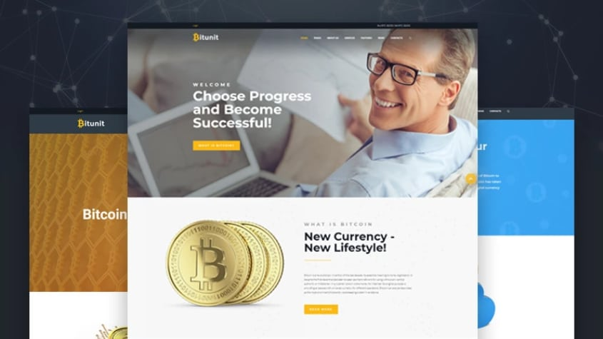 Bitunit WordPress Theme for Bitcoin Cryptocurrency website